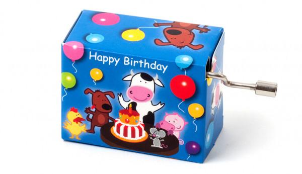 Kurbelspieluhr Happy Birthday Kids
