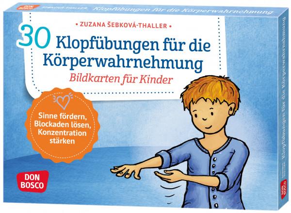 Klopfübungen für die Körperwahrnehmung Bildkarten für Kinder